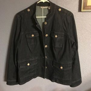 Chicos Military Jean Jacket